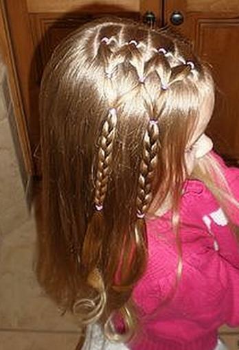 Плетение косичек для девочек маленьких пошагово